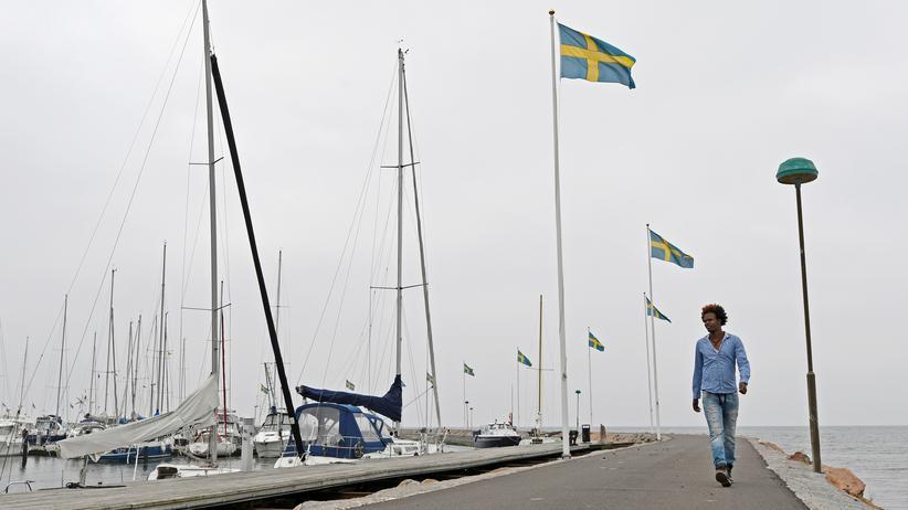 Schweden: Girmay Mehari aus Eritrea im Hafen von Båstad