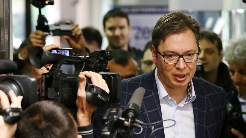 Präsidentenwahl in Serbien: Gilt als Favorit für die Wahl des serbischen Präsidenten: der amtierende Ministerpräsident Aleksandar Vučić