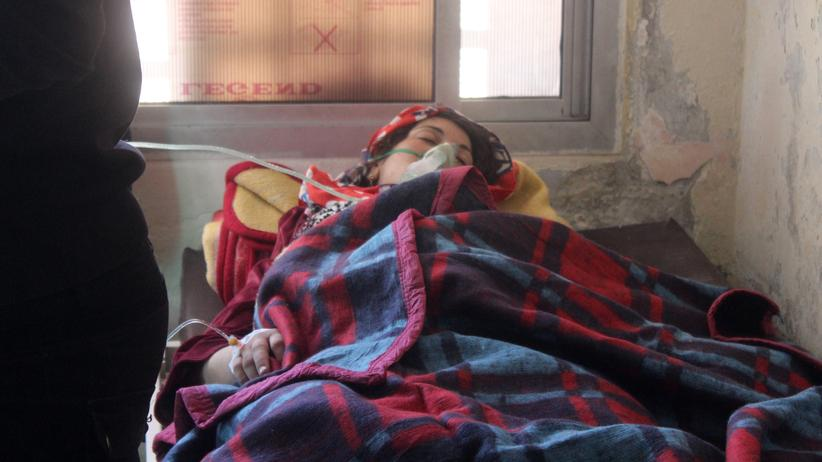 Giftgasangriff in Syrien: Ein Opfer des mutmaßlichen Giftgasangriffs in einem Krankenhaus in Idlib