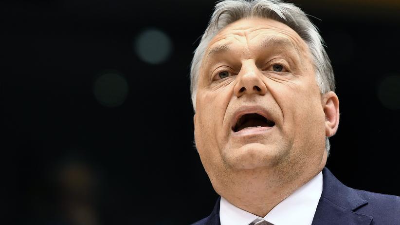 Verfahren gegen Ungarn: Der ungarische Ministerpräsident Viktor Orbán im Europaparlament in Brüssel