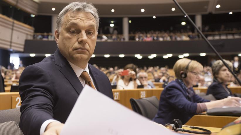 EU-Kommission: Die EU-Kommission und einige Mitglieder der EVP-Parteienfamilie übten vor allem wegen der geplanten Schließung der Central European University in Budapest starke Kritik an Orbán.