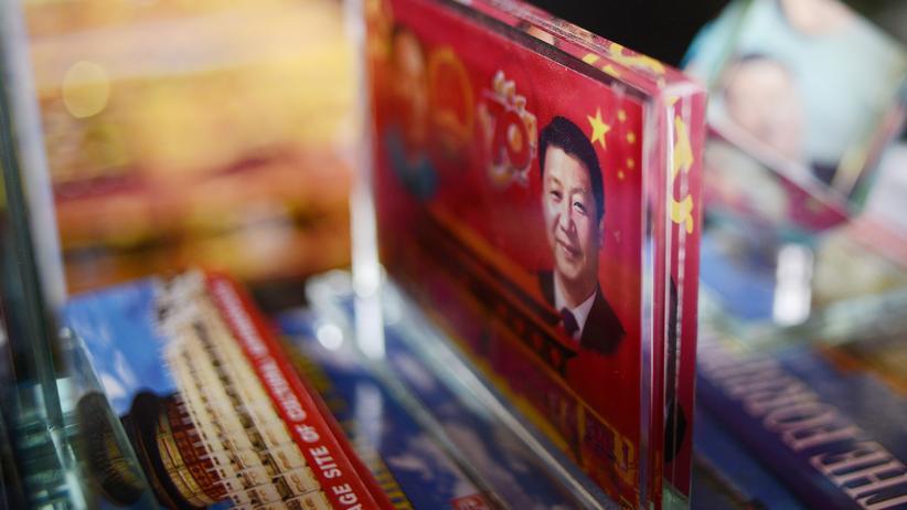 China: Ein Bild des chinesischen Präsidenten Xi Jinping auf einem Cover