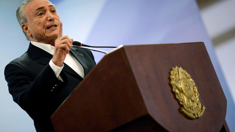 Michel Temer: Brasiliens Präsident Michel Temer