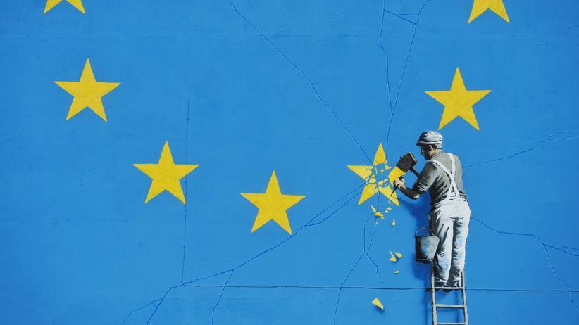 Brexit: Ein Kunstwerk des Streetart-Künstlers Banksy im britischen Dover