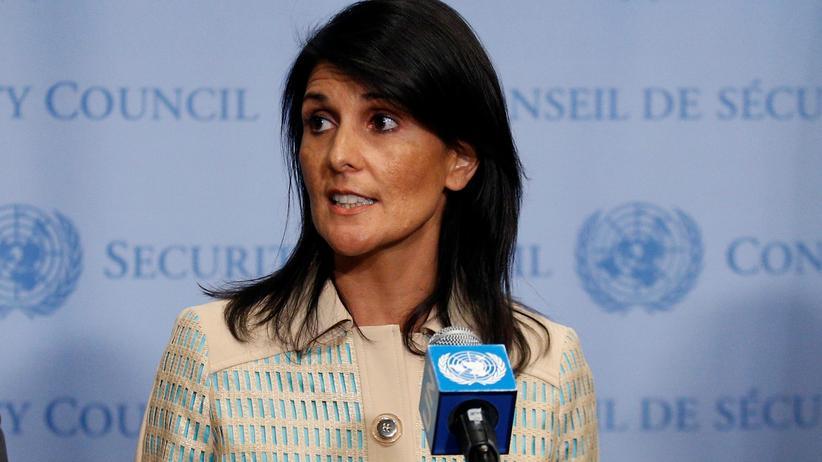 Flüchtlinge: Die Botschafterin der USA bei den Vereinten Nationen, Nikki Haley