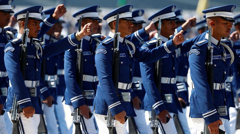 Donald Trump in Saudi-Arabien: Zeremonie der königlichen Garde in Saudi-Arabien