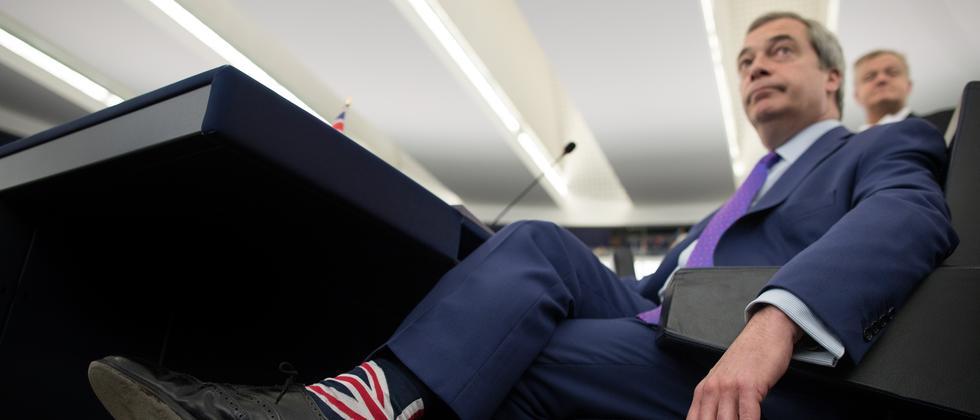 Nigel Farage im Europäischen Parlament