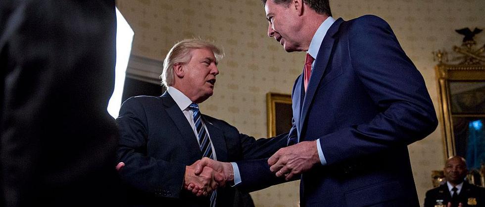 US-Präsident Donald Trump und der ehemalige FBI-Chef James Comey