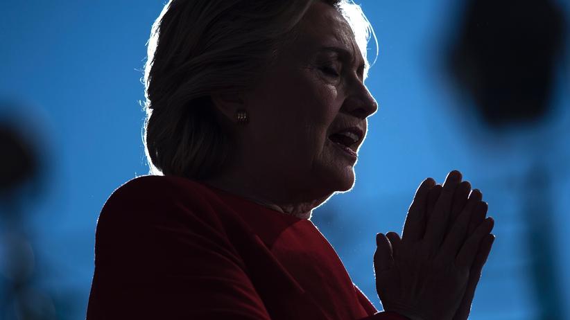 US-Wahl: US-Präsidentschaftskandidatin Hillary Clinton bei einer Wahlkampfveranstaltung in Pittsburgh im US-Bundesstaat Pennsylvania im November 2016