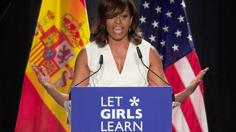 Let Girls Learn: Michelle Obama bei einer Präsentation von Let Girls Learn in Madrid, Spanien