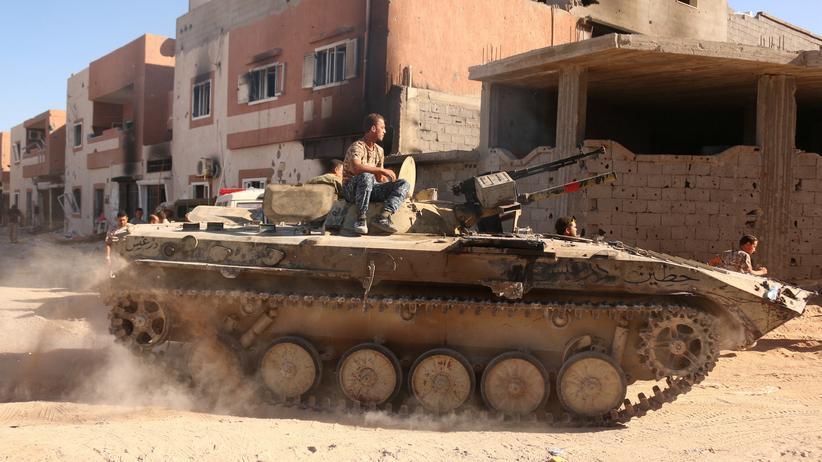 Kämpfer der internationnal anerkannten Regierung in Libyen