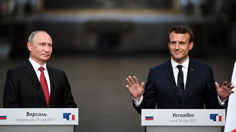 Putin bei Macron: Russland und Frankreich wollen gemeinsam Terror bekämpfen