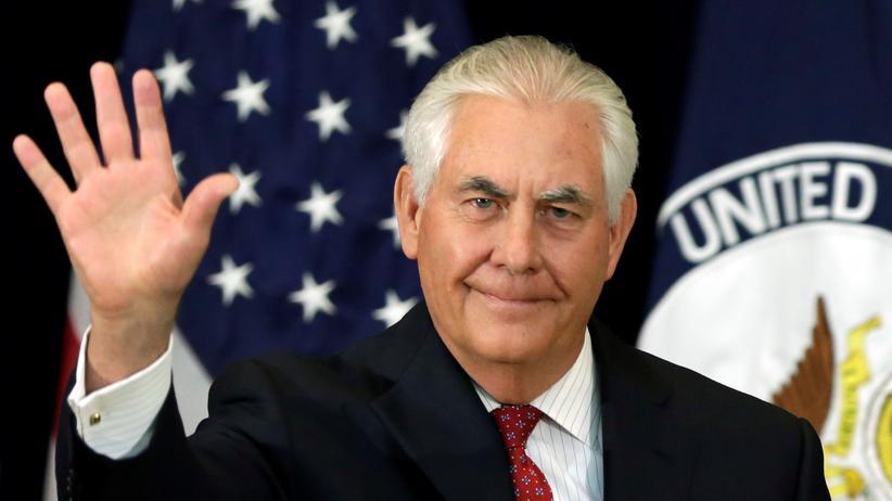 Rex Tillerson: nach seiner Rede im US-Außenministerium