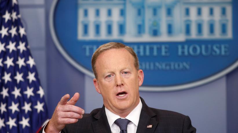 Sean Spicer: Sean Spicer beim Pressegespräch im Weißen Haus