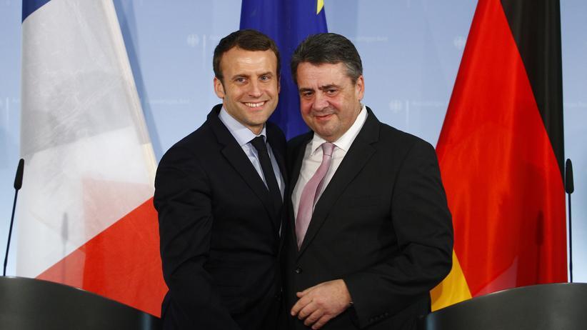 Außenminister: Außenminister Sigmar Gabriel und der neue französische Präsident Emmanuel Macron