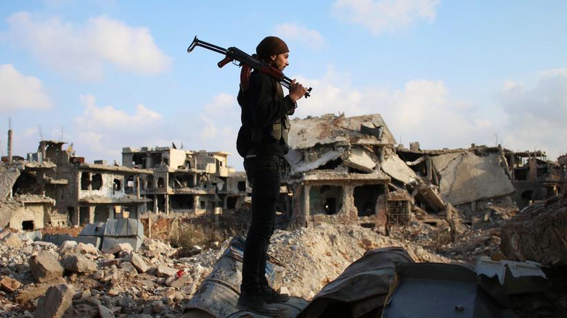 Syrien: Kämpfer der Rebellen in Dar'ā im Süden Syriens
