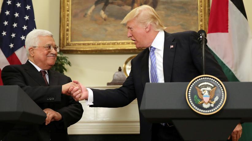 """Donald Trump und Mahmud Abbas: """"Wir werden es schaffen"""""""