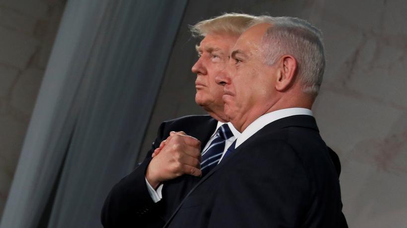 Trump in Israel: Beste Freunde: US-Präsident Donald Trump Israels Premier Benjamin Netanjahu im Israel-Museum in Jerusalem