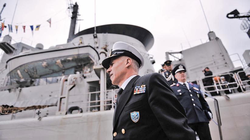 Griechenland und Türkei: Ein Kriegsschiff der griechischen Marine im Hafen von Thessaloniki