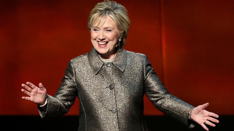 USA: Hillary Clinton während einer Veranstaltung Anfang April in New York