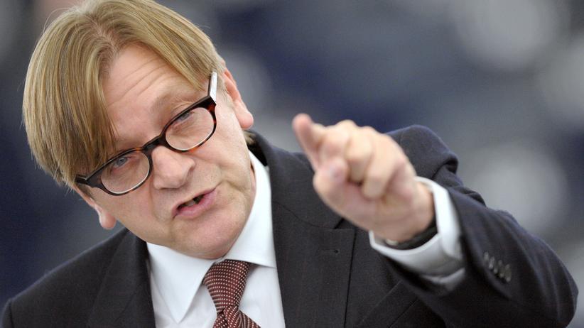 Der Chef der liberalen Fraktion im Europaparlament, Guy Verhofstadt