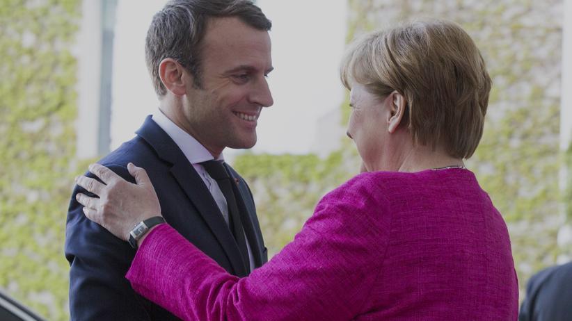 Frankreich und Deutschland: Das neue Führungsduo für Europa: Frankreichs Präsident Emmanuel Macron bei seinem Antrittsbesuch bei Kanzlerin Angela Merkel Mitte Mai