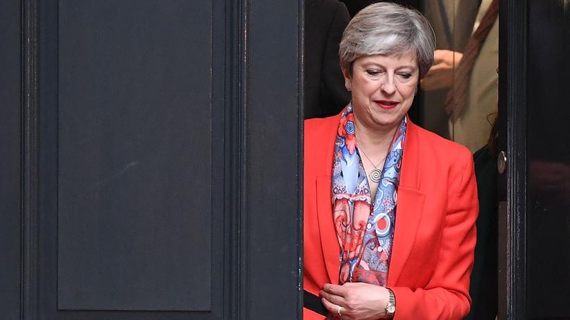 Großbritannien-Wahl: Für die britische Premierministerin Theresa May wird es eng.