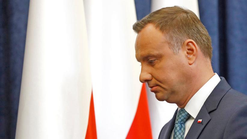 Andrzej Duda: Der polnische Präsident Andrzej Duda hat am Montag ein Veto gegen die verabschiedete Justizreform angekündigt.