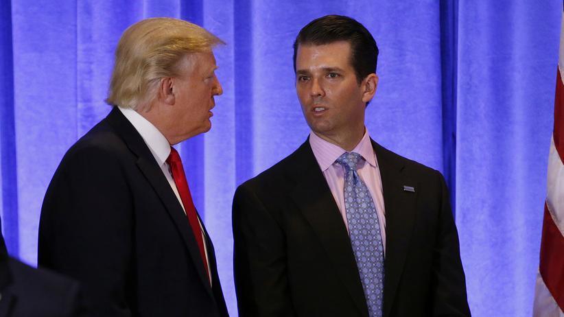 Donald Trump Jr.: US-Präsident Donald Trump und sein ältester Sohn, Donald Trump Junior.