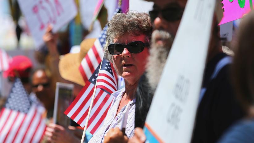 US-Gesundheitsreform: Protest gegen die Gesundheitsreform der Republikaner in Kalifornien