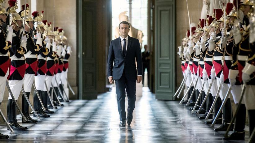 Emmanuel Macron: Der französische Präsident Emmanuel Macron in Versailles, 3 Juli, 2017