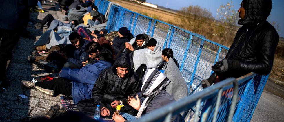 Flüchtlinge an der Grenze zwischen Serbien und Kroatien