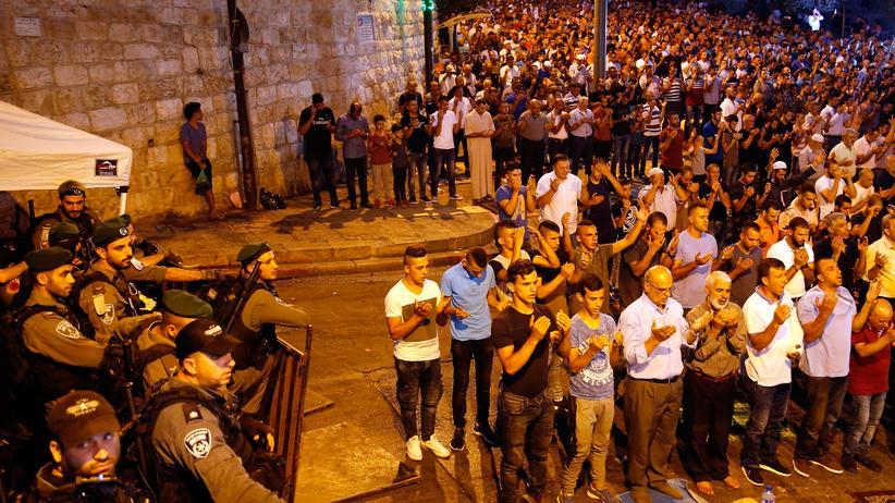 Palästina: Muslime wollen Tempelberg weiter boykottieren
