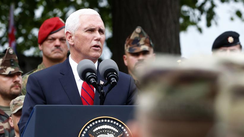 Mike Pence: US-Vizepräsident sichert Baltikum militärischen Beistand zu
