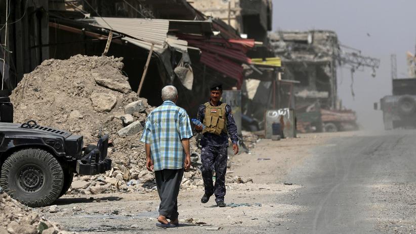 Mossul: Das irakische Militär hatte in Mossul nach eigenen Angaben insgesamt 20 ausländische IS-Unterstützerinnen festgenommen.