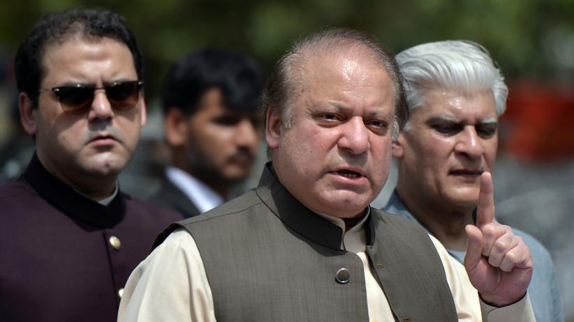 Panama Papers: Pakistans Premier Nawaz Sharif nach seiner Aussage vor dem Anti-Korruptionsausschuss Mitte Juni in Islamabad