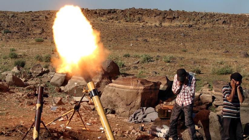 Rebellen im Kampf gegen syrische Regierungstruppen.