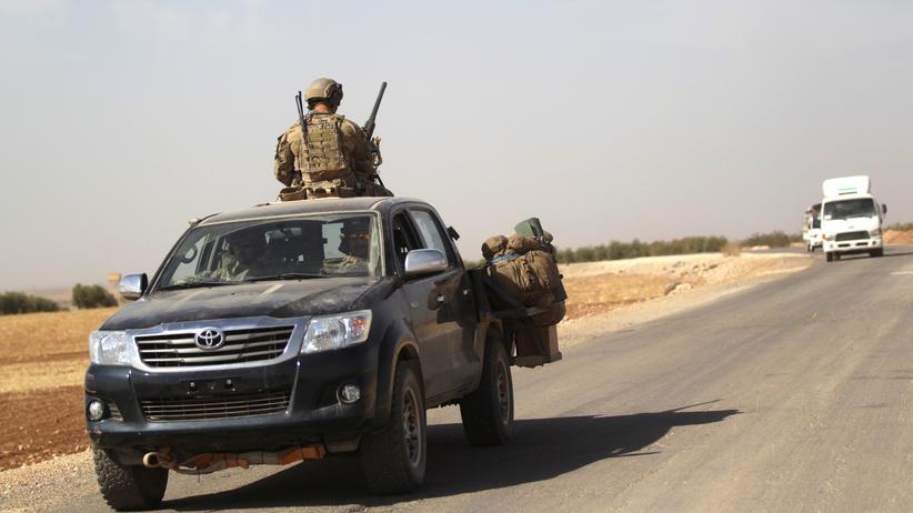 Truppenstandorte: US-Militär nahe Aleppo, Syrien