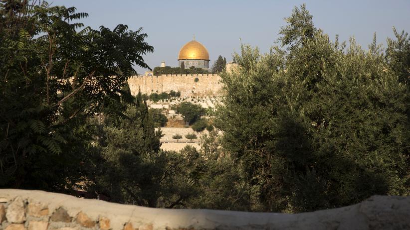 Israel: Blick auf den Felsendom in Jerusalem