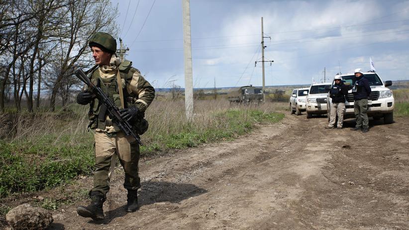 Ostukraine: Ein Separatist in der Nähe von Luhansk