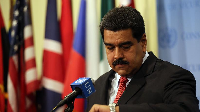Venezuela: Venezuelas Präsident Nicolás Maduro im Juli 2017 nach einem Treffen mit UN-Chef Ban Ki Moon