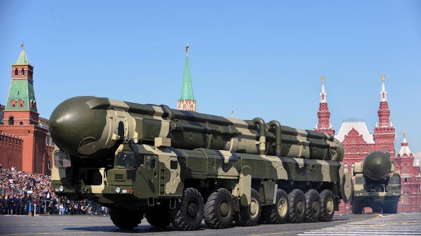 Vereinte Nationen: Eine russische Interkontinentalrakete, die mit atomaren Sprengköpfen bestückt werden kann.