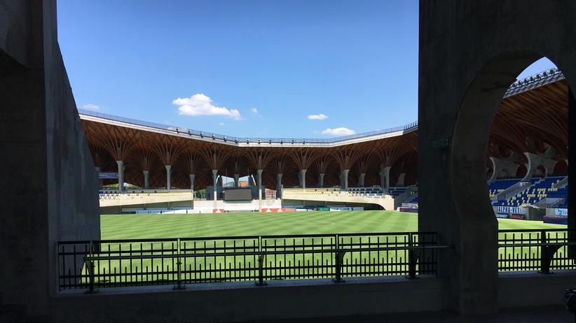 Blick in das Stadion in Felcsut, was Viktor Orbán wollte