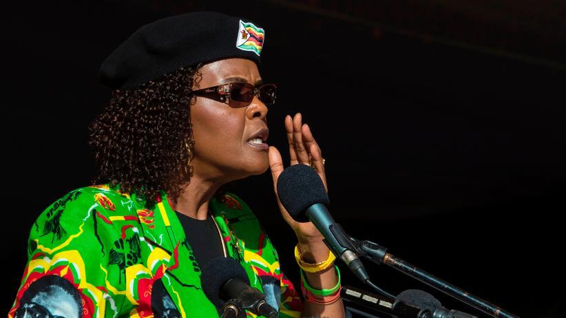 Grace Mugabe: Grace Mugabe im Juni 2017