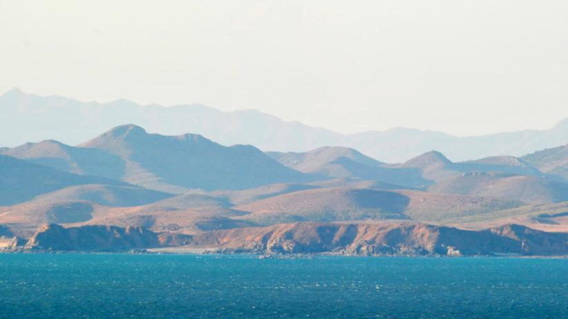 Korea: Blick auf die Küste Nordkoreas