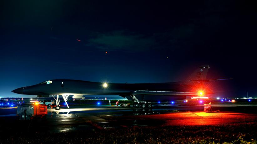 Ein amerikanischer Bomber auf Guam