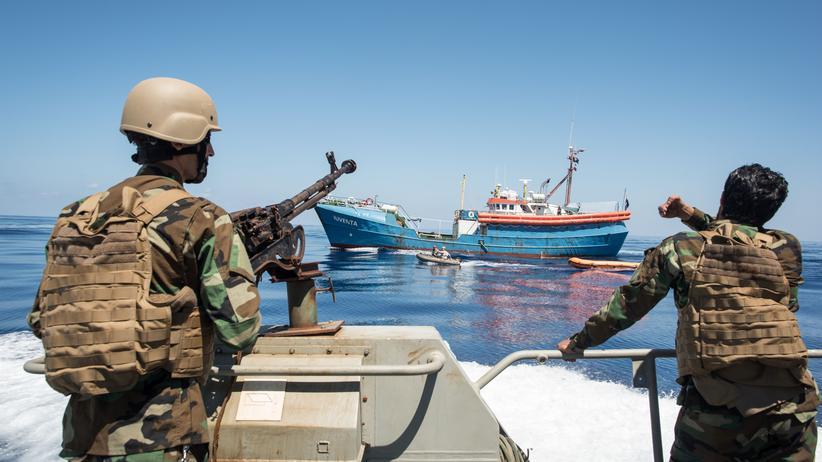 Libyen: Libysche Küstenwache auf Patrouille