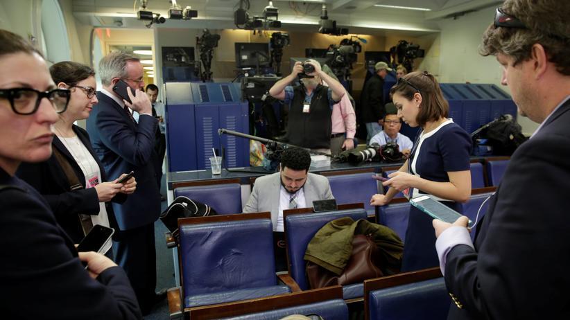 Presseraum im Weißen Haus