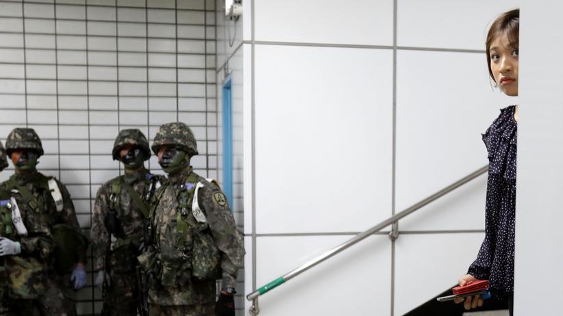 Südkorea: Üben für den Ernstfall: Seoul, 22. August 2017