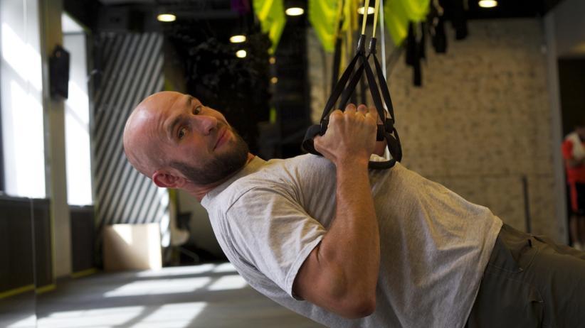 Olexandr Chub trainiert für die Invictus Games in Toronto, ein internationaler Wettbewerb im Invalidensport.